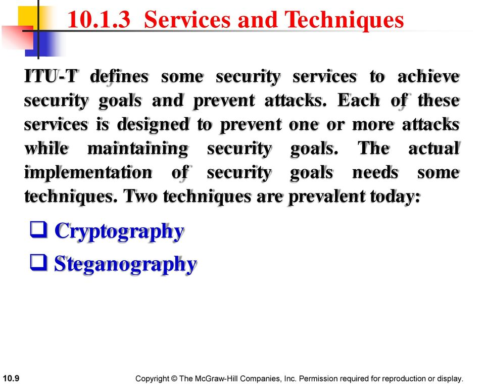 Each of these services is designed to prevent one or more attacks while maintaining