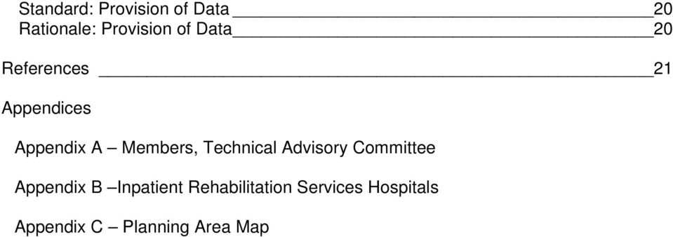 Technical Advisory Committee Appendix B Inpatient