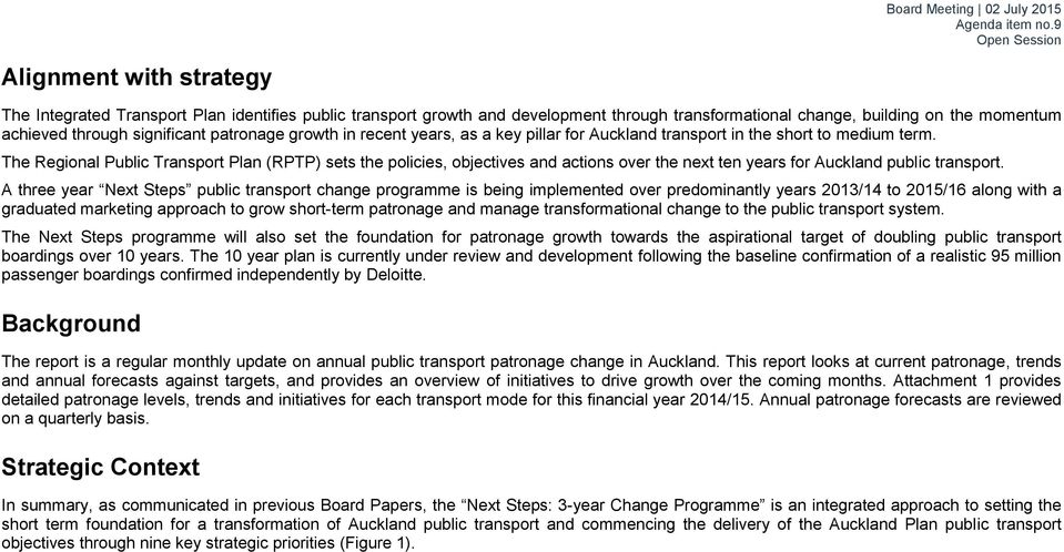 The Regional Public Transport Plan (RPTP) sets the policies, objectives and actions over the next ten years for Auckland public transport.