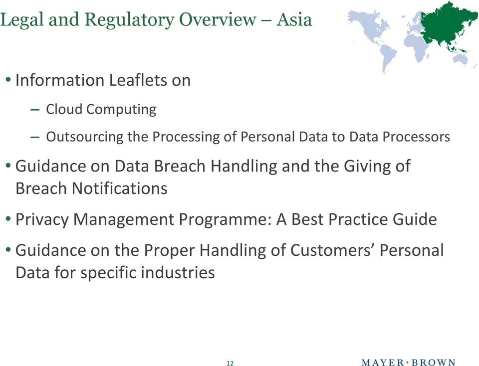 and the Giving of Breach Notifications Privacy Management Programme: A Best Practice