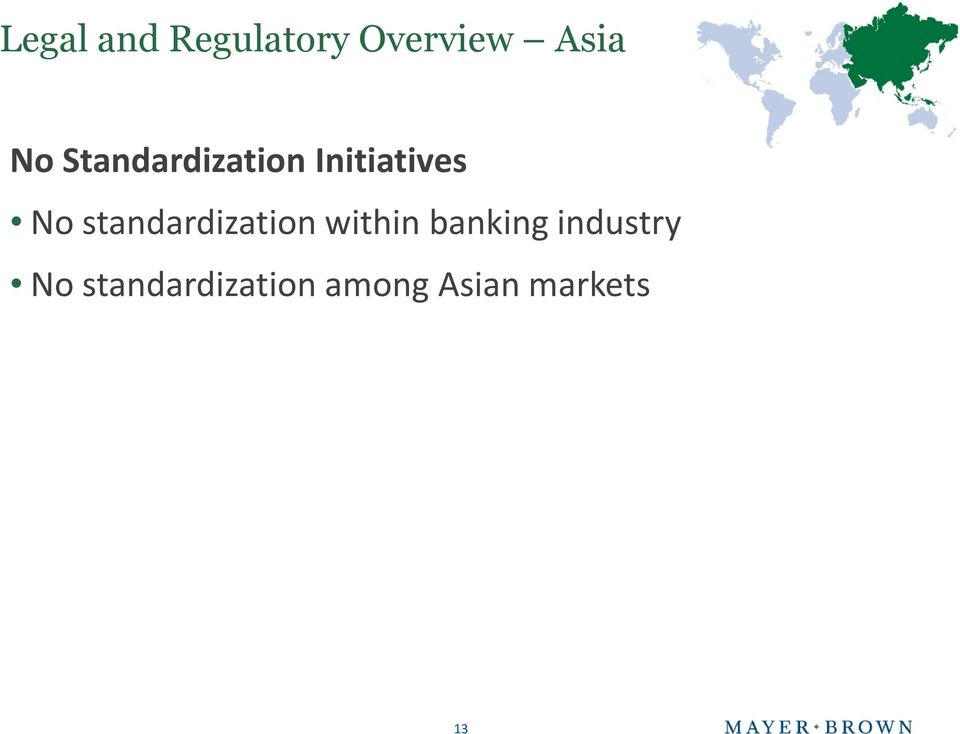 standardization within banking