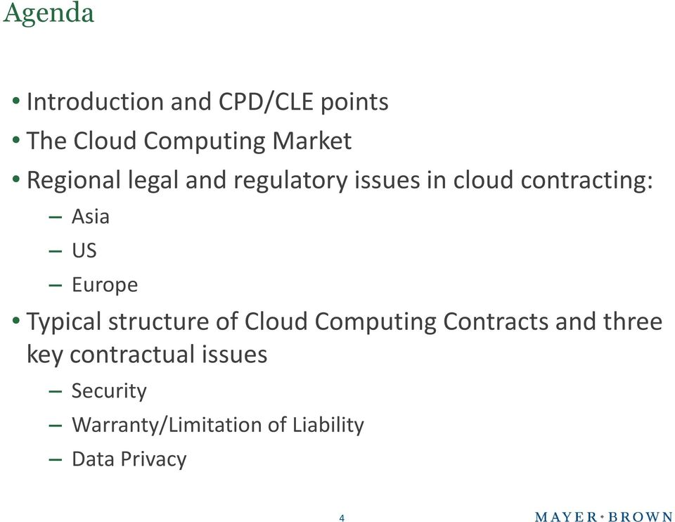 Europe Typical structure of Cloud Computing Contracts and three key