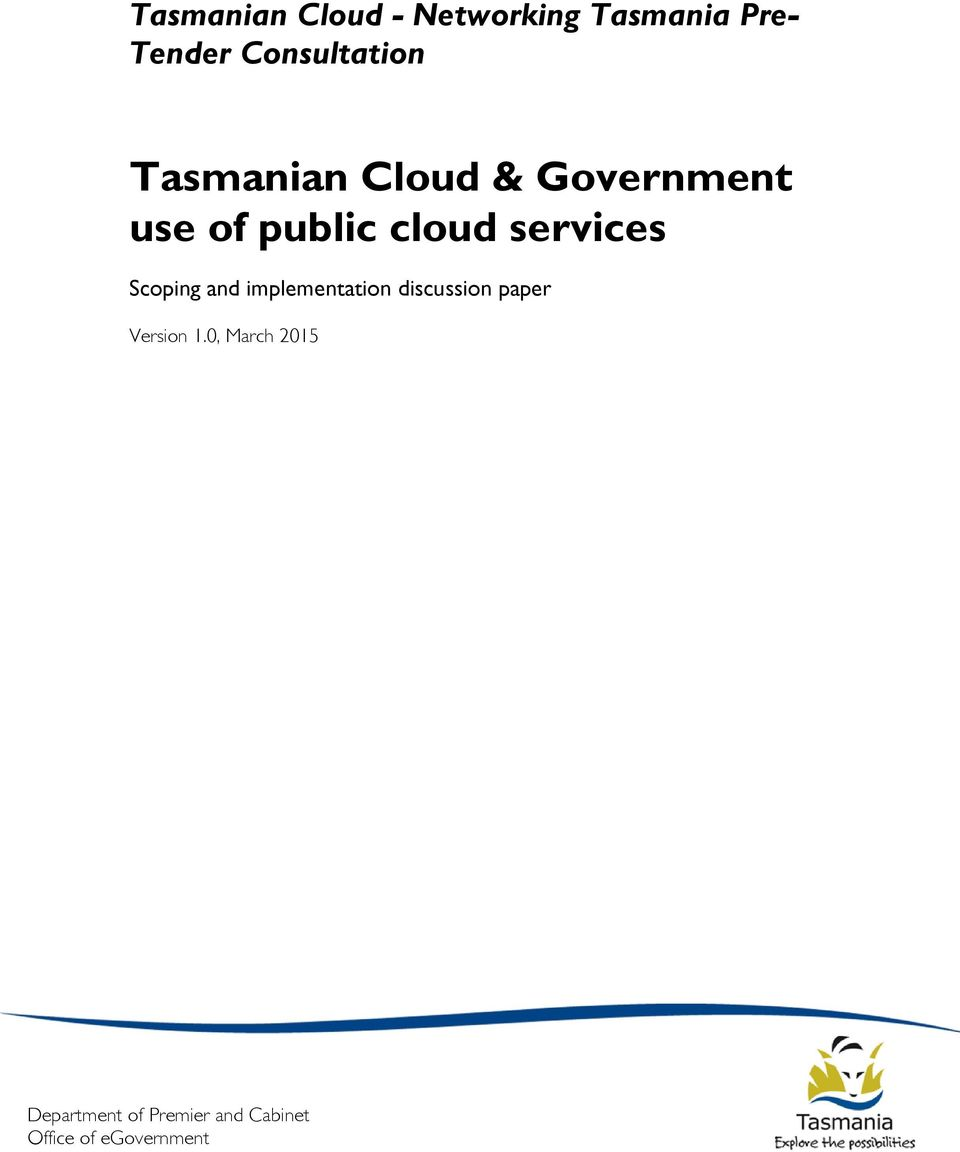 public cloud services Scoping and implementation