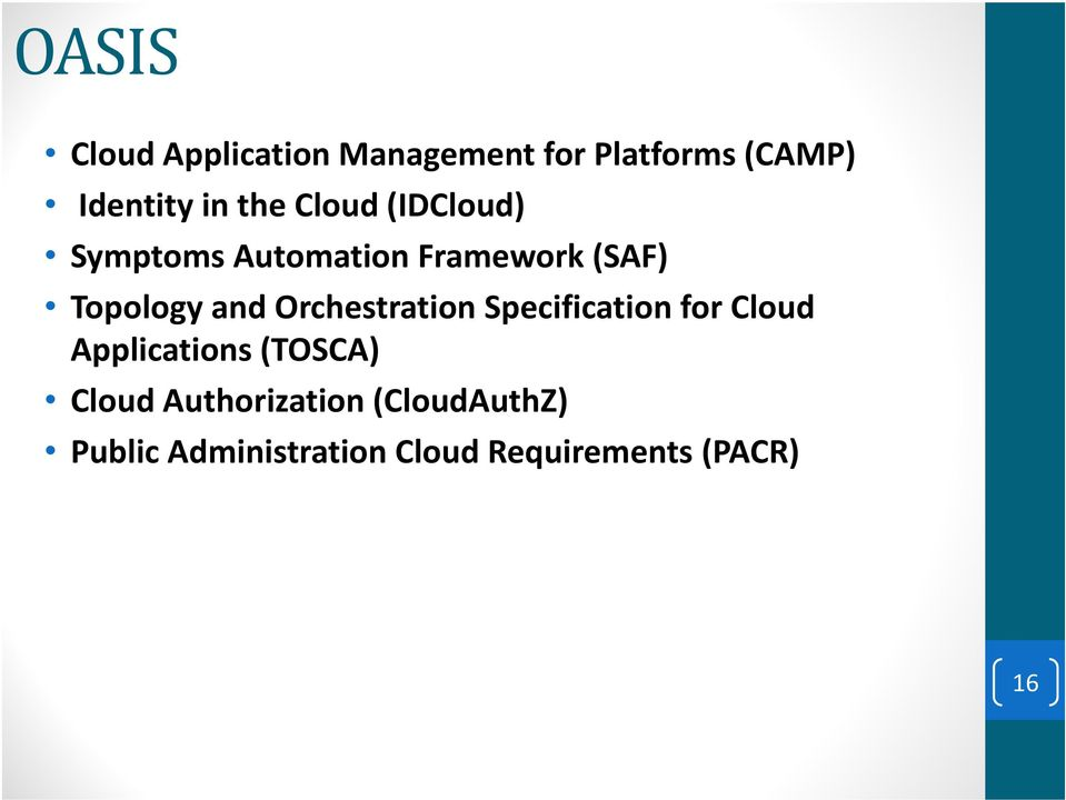 Orchestration Specification for Cloud Applications (TOSCA) Cloud