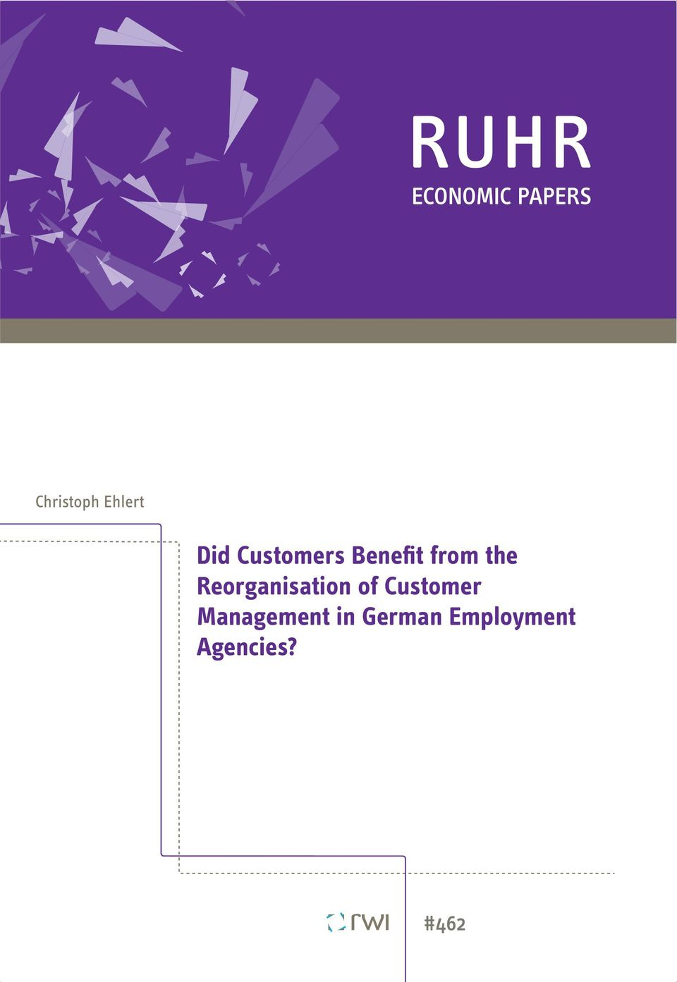 the Reorganisation of Customer