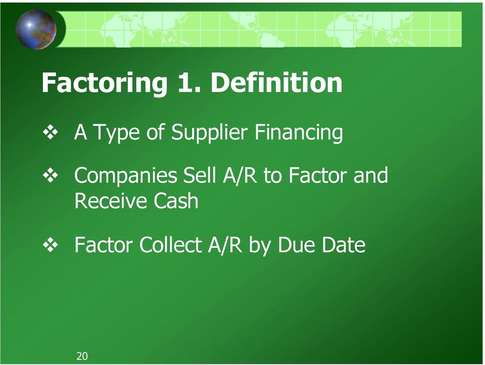 Financing Companies Sell A/R to