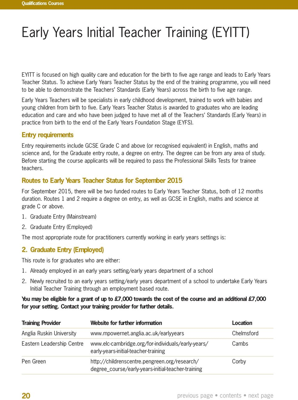 Early Years And Childcare Training And Support Programme Pdf