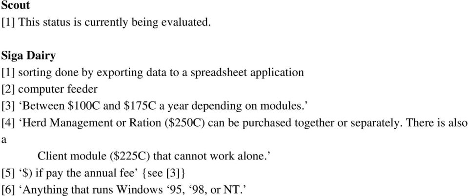 $100C and $175C a year depending on modules.