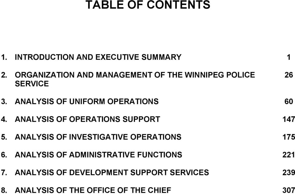 ANALYSIS OF UNIFORM OPERATIONS 60 4. ANALYSIS OF OPERATIONS SUPPORT 147 5.