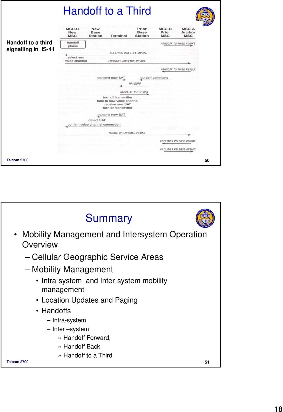 Management Intra-system and Inter-system mobility management Location Updates and Paging
