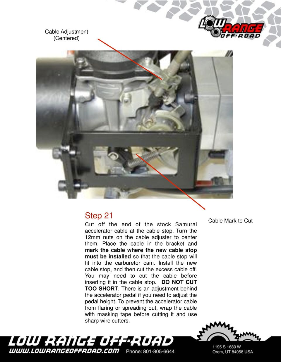 Installation Instructions Pdf Keihin Carburetor Diagram In Addition Honda Cv On Install The New Cable Stop And Then Cut Excess Off You May