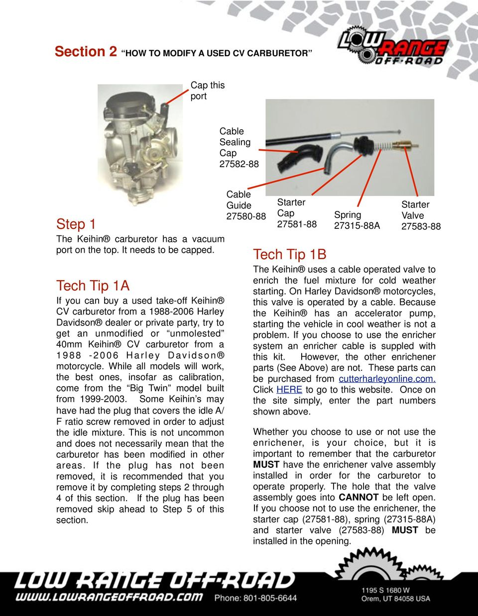 Installation Instructions Pdf Davidson Cv Carburetor Diagram Get Free Image About Wiring 1988 2006 Harley Motorcycle While All Models Will Work The Best Ones