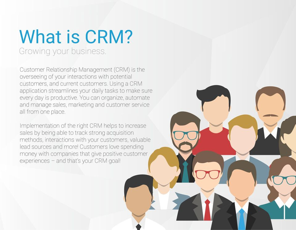 Using a CRM application streamlines your daily tasks to make sure every day is productive.