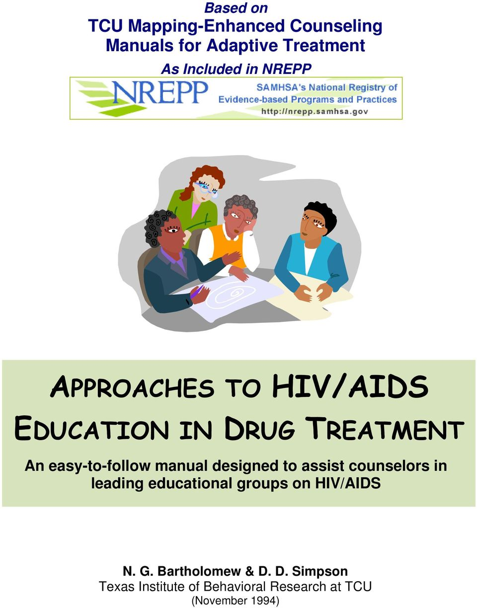 manual designed to assist counselors in leading educational groups on HIV/AIDS N. G.