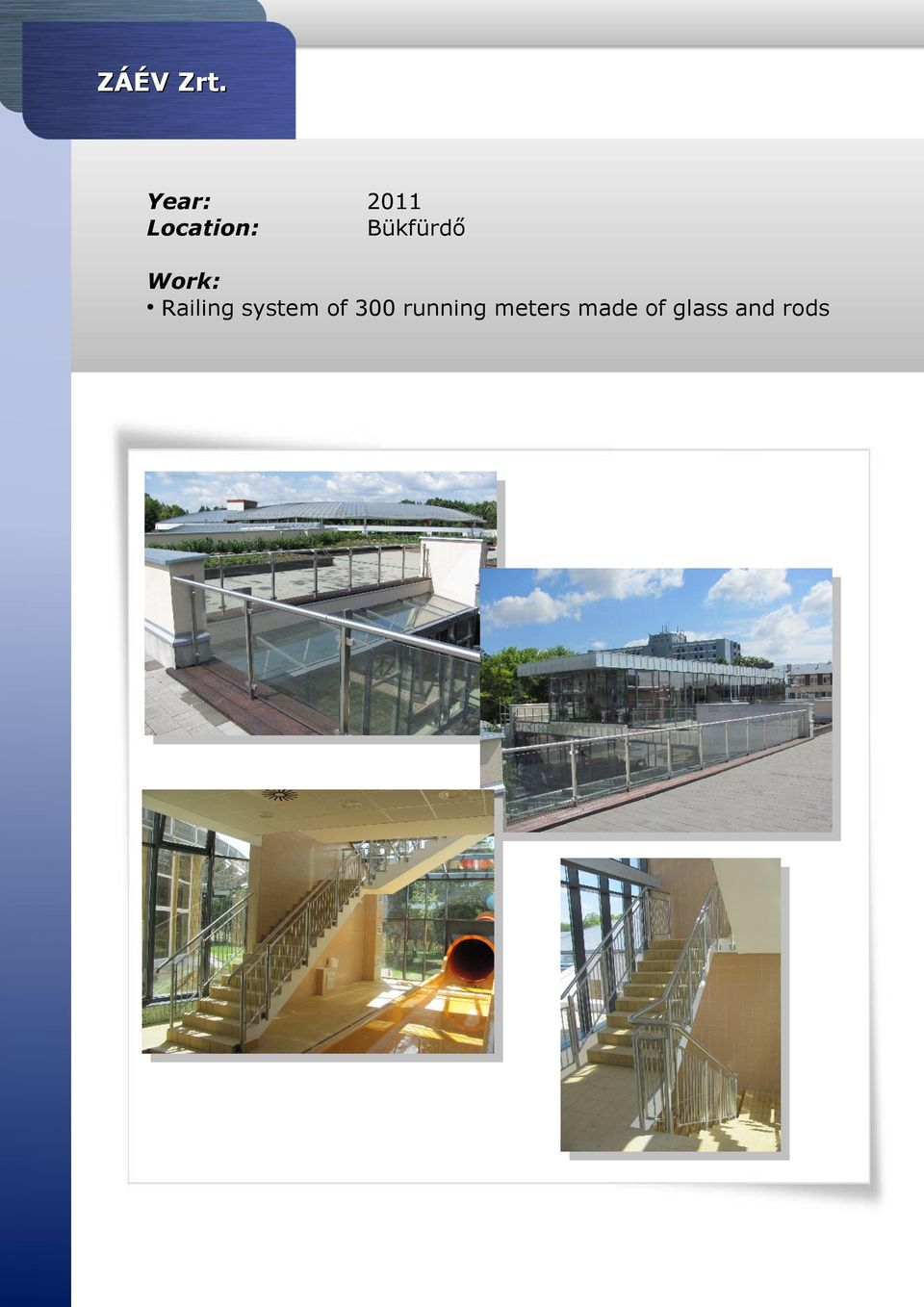 Railing system of