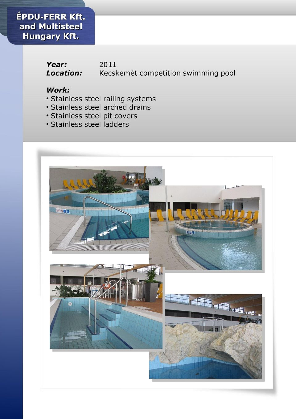 Kecskemét competition swimming pool steel steel
