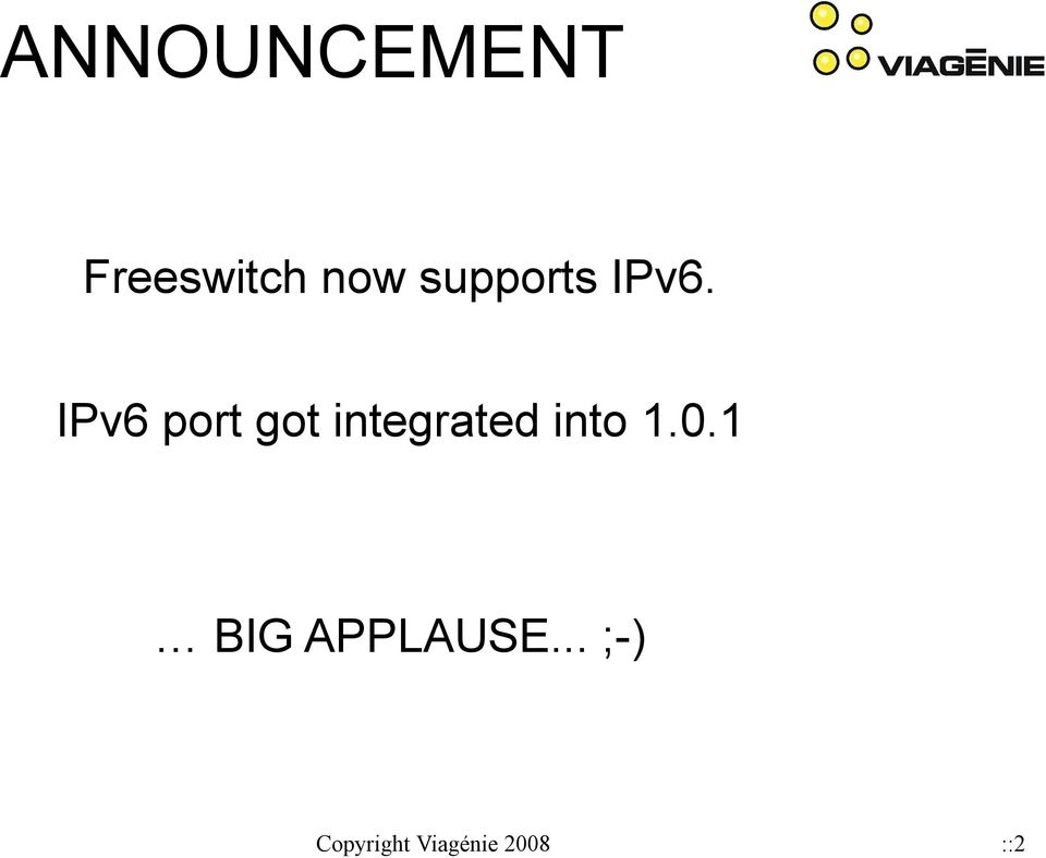 IPv6 port got integrated into 1.
