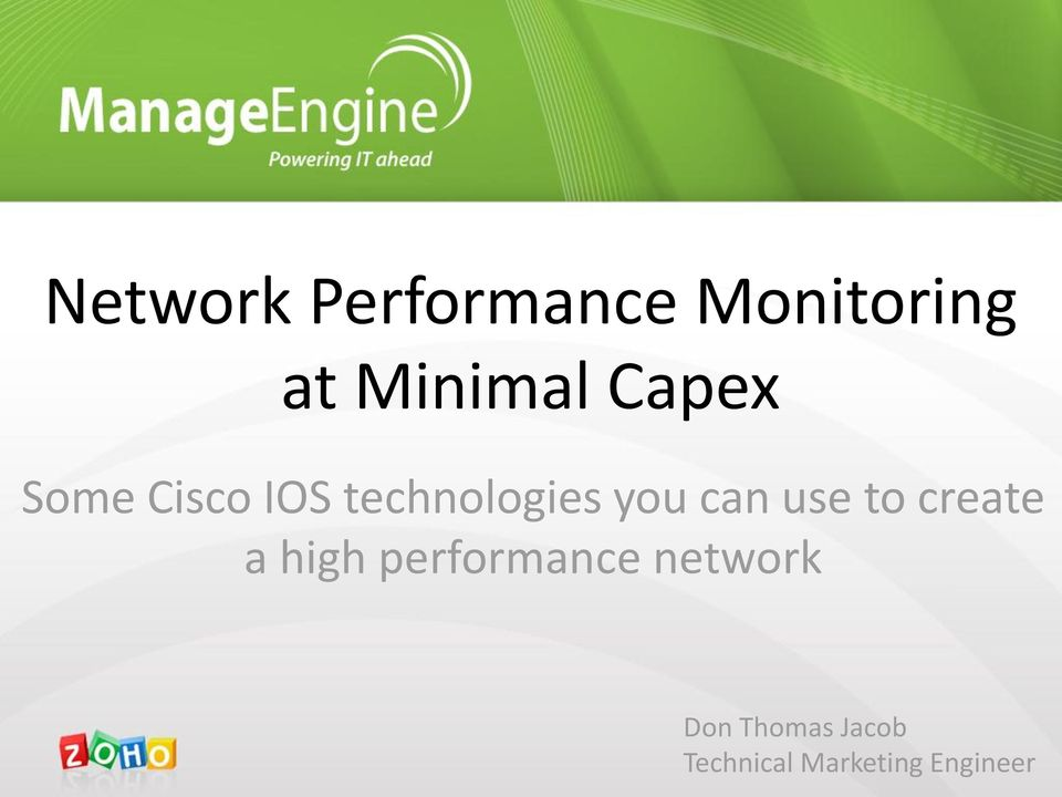 use to create a high performance network