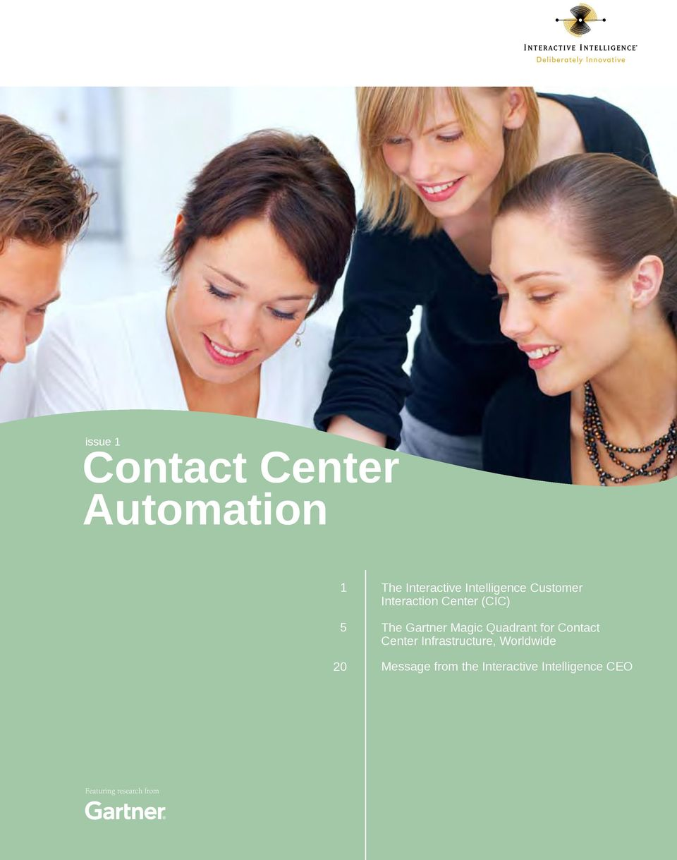 Magic Quadrant for Contact Center Infrastructure, Worldwide