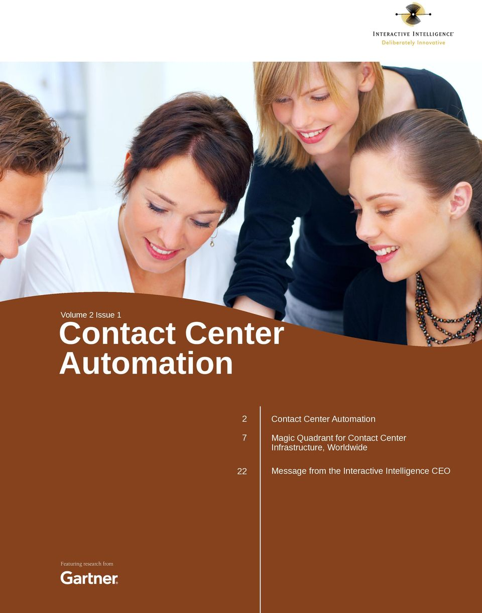 Contact Center Infrastructure, Worldwide Message