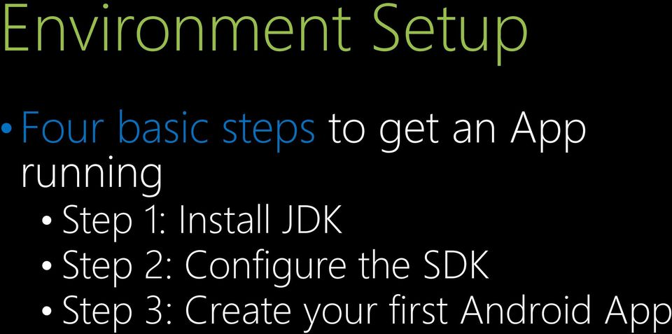 Install JDK Step 2: Configure the
