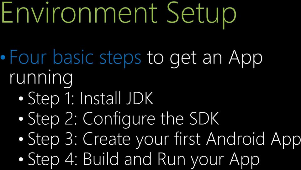 Configure the SDK Step 3: Create your