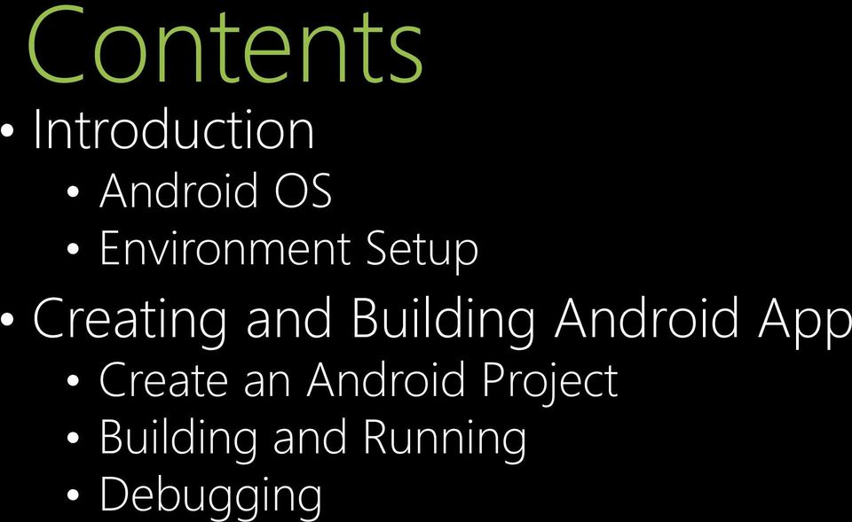 Building Android App Create an