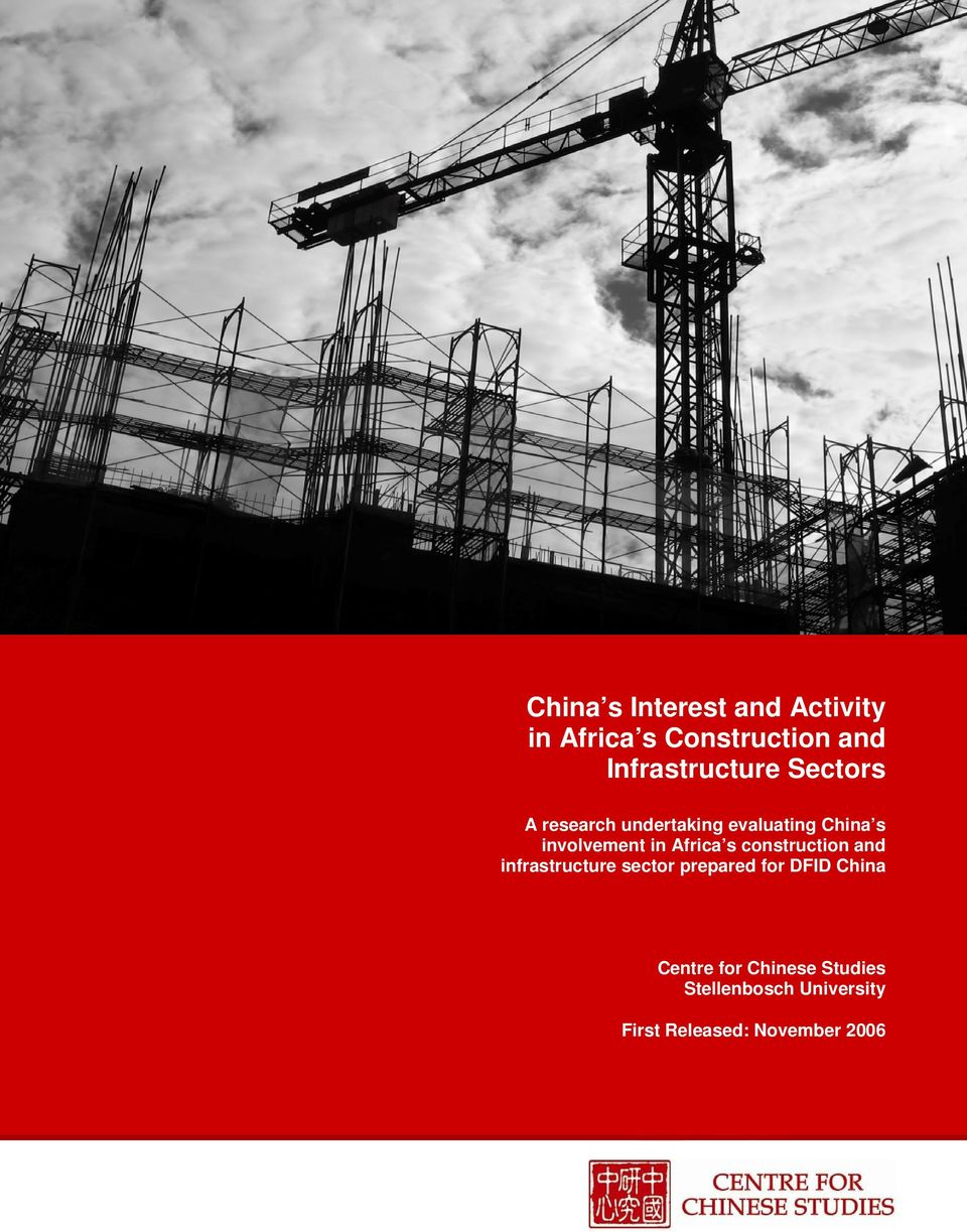involvement in Africa s construction and infrastructure sector prepared