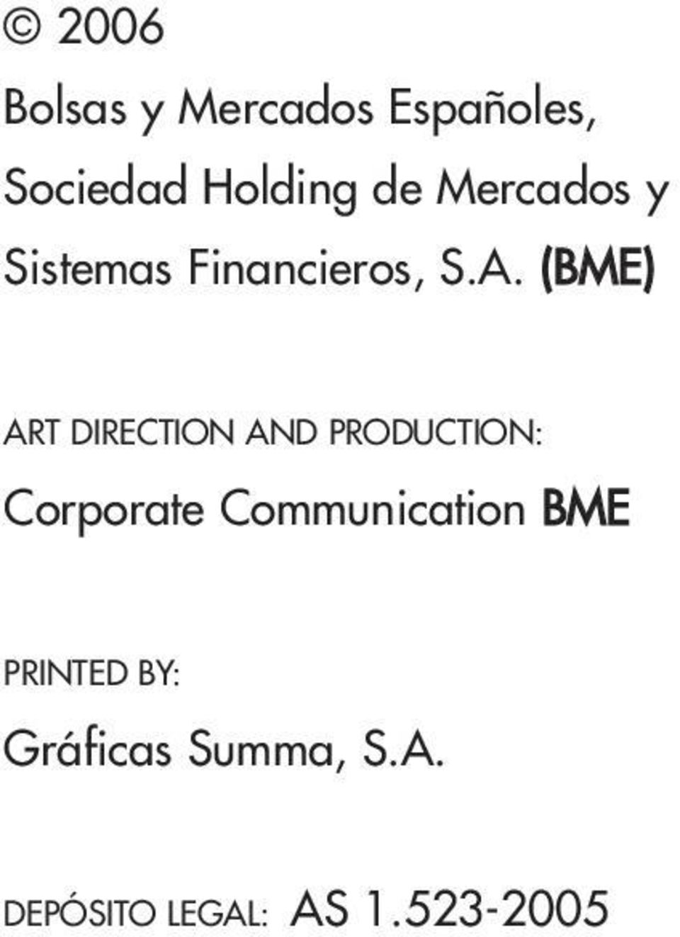 (BME) ART DIRECTION AND PRODUCTION: Corporate