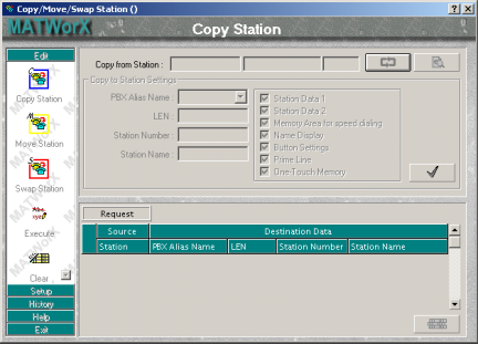 Chapter 5 Add-Ins <Copy/Move/Swap Station> Commands to be used: Command 10/14, 12, 13, 16, 17, 18, 40, 73, 74, 77, 90, 93, 94 This Add-In has the following 3 functions: Copy Station: Copies the