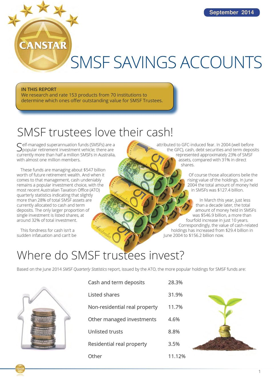 Self-managed superannuation funds (SMSFs) are a popular retirement investment vehicle; there are currently more than half a million SMSFs in Australia, with almost one million members.