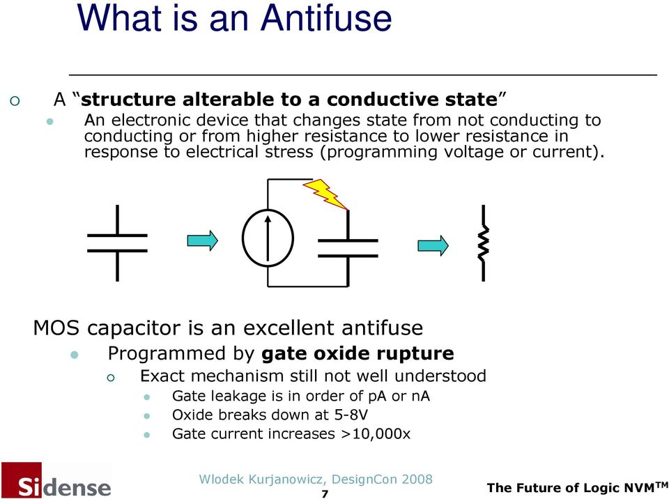 (programming voltage or current).