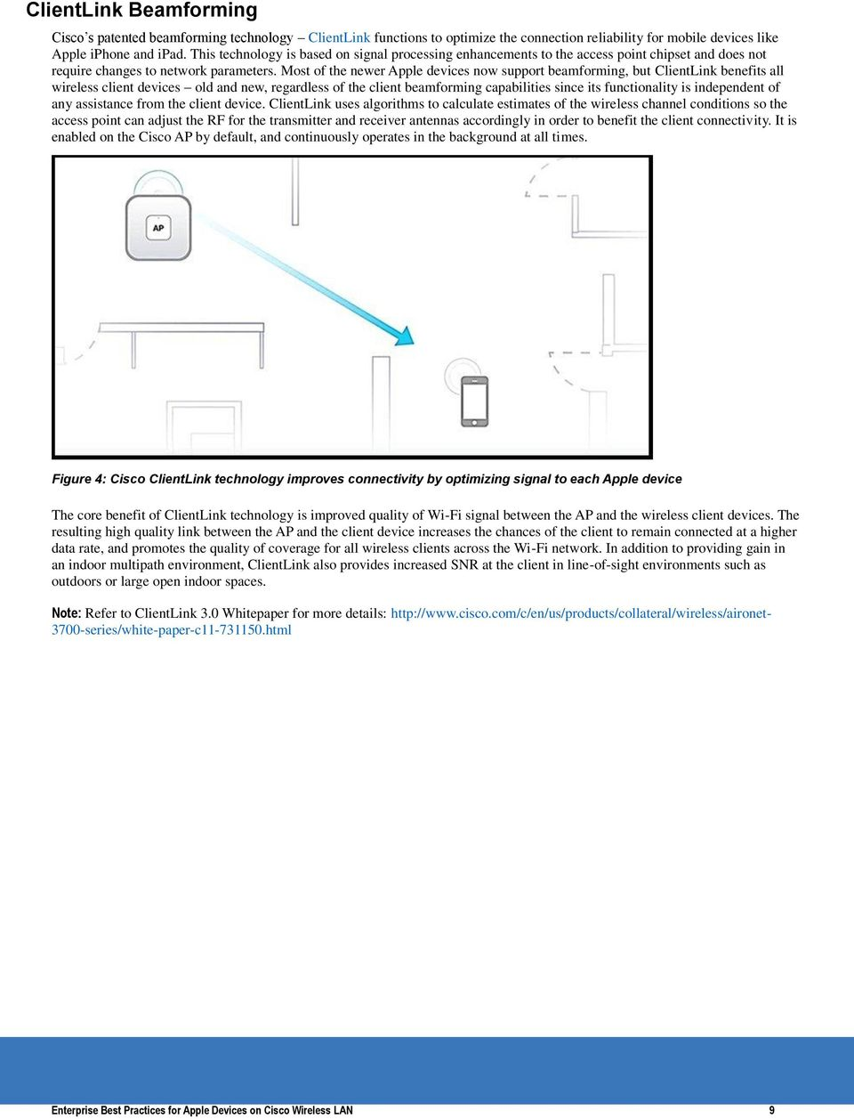 Enterprise Best Practices For Apple Devices On Cisco Wireless Lan Pdf Diagram Most Of The Newer Now Support Beamforming But Clientlink Benefits All Client