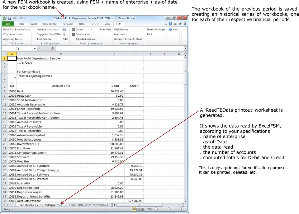 Here Is A Trial Balance Sample Generated And Exported Into An Excel
