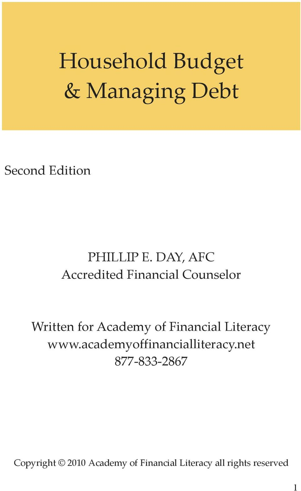 Financial Literacy www.academyoffinancialliteracy.