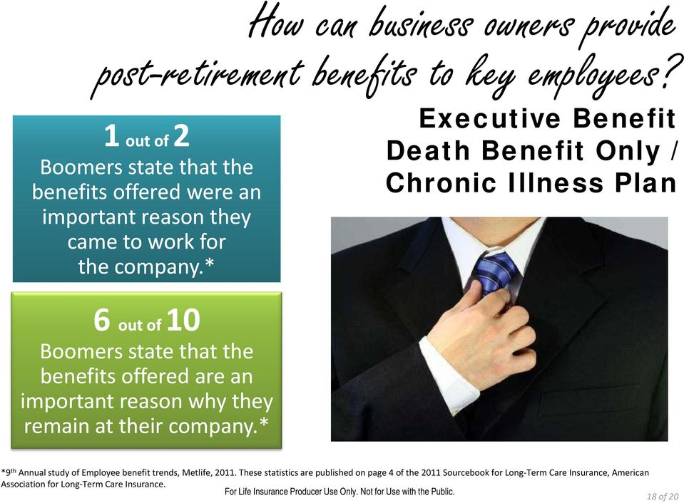 company.* 6 10 out of Boomers state that the benefits offered are an important reason why they remain at their company.