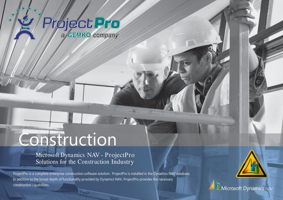 ProjectPro is installed in the Dynamics NAV database.