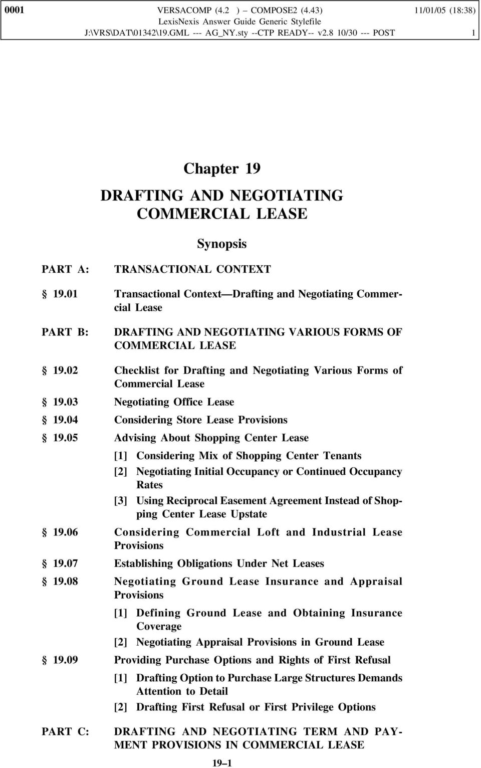 Chapter 19 Drafting And Negotiating Commercial Lease Pdf
