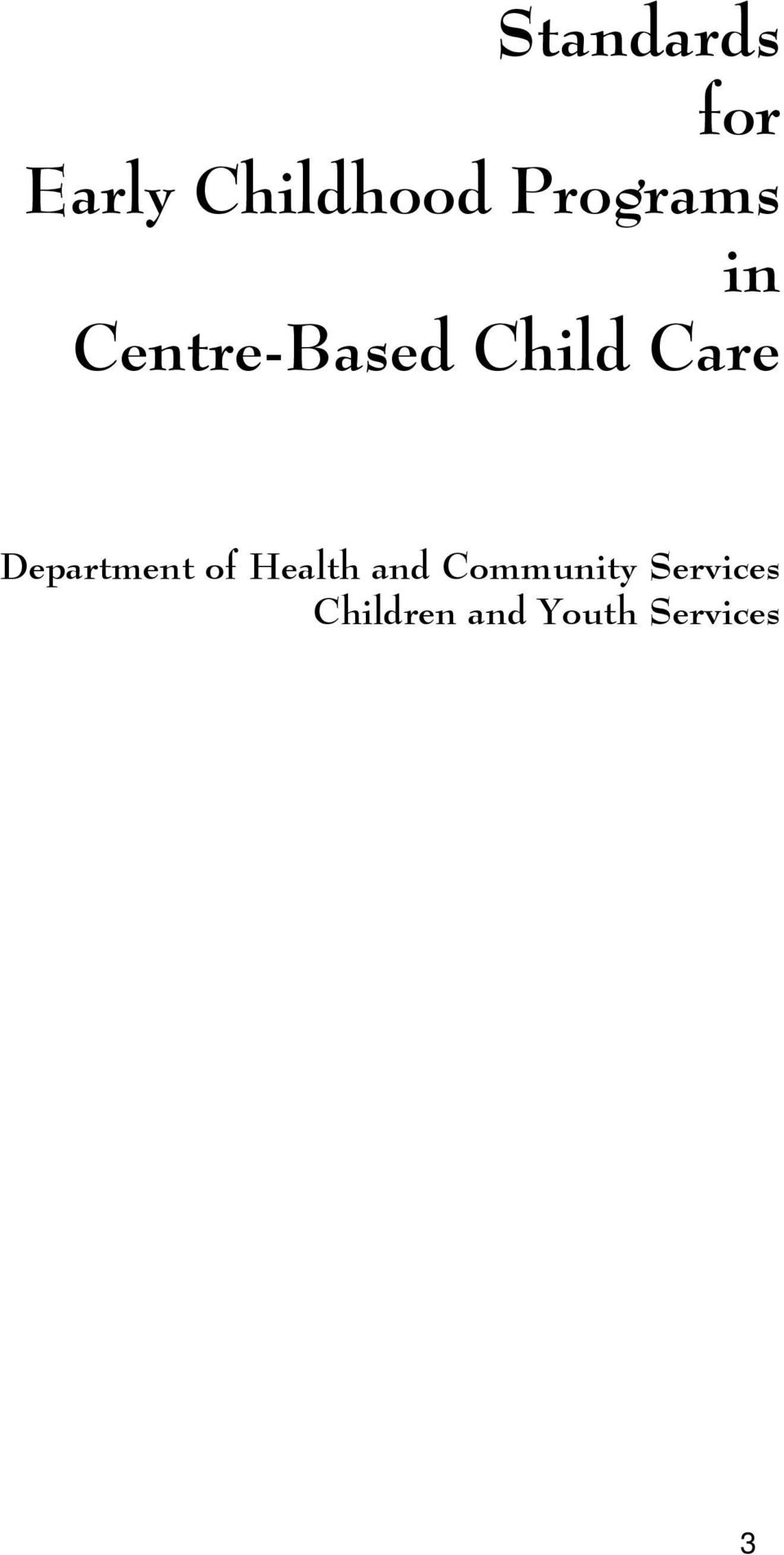 Care Department of Health and