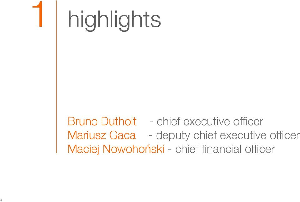 deputy chief executive officer