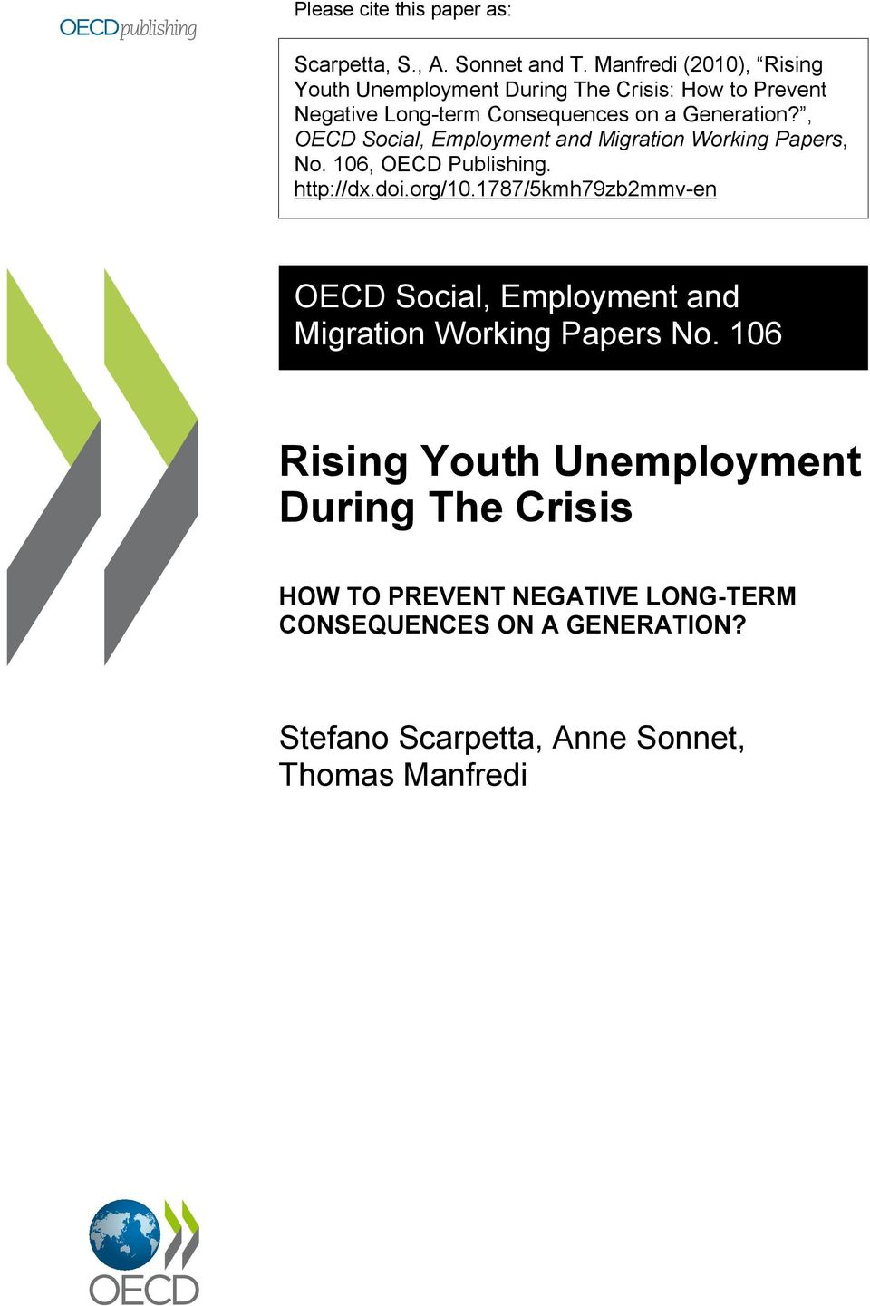 , OECD Social, Employment and Migration Working Papers, No. 106, OECD Publishing. http://dx.doi.org/10.