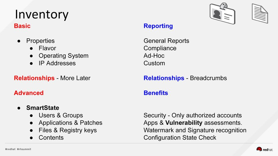 SmartState Users & Groups Applications & Patches Files & Registry keys Contents Security - Only