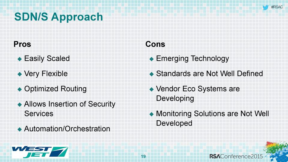 Cons Emerging Technology Standards are Not Well Defined Vendor Eco