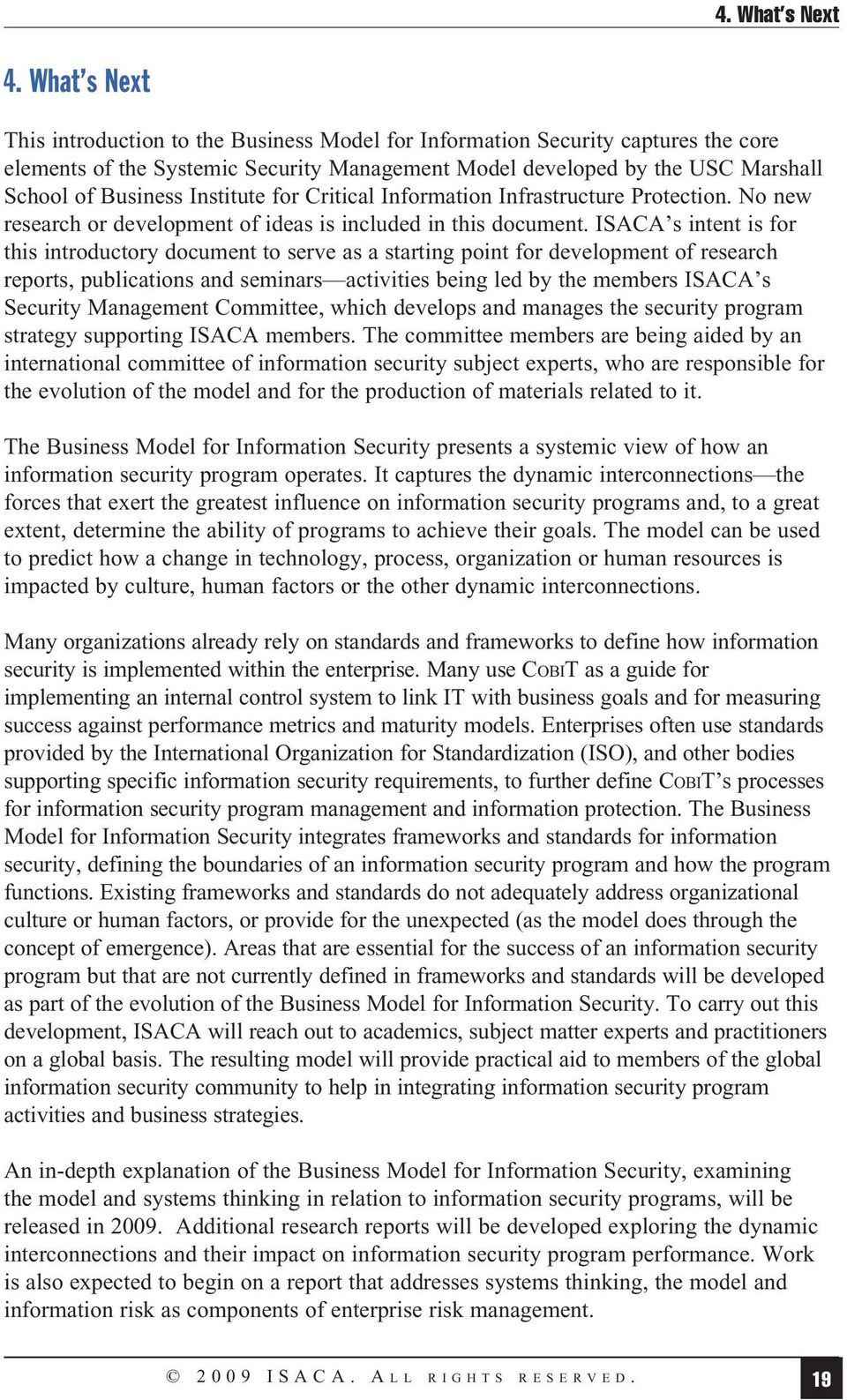 Institute for Critical Information Infrastructure Protection. No new research or development of ideas is included in this document.