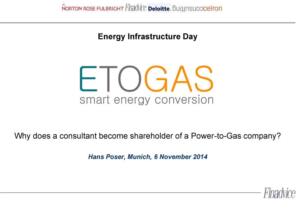 shareholder of a Power-to-Gas