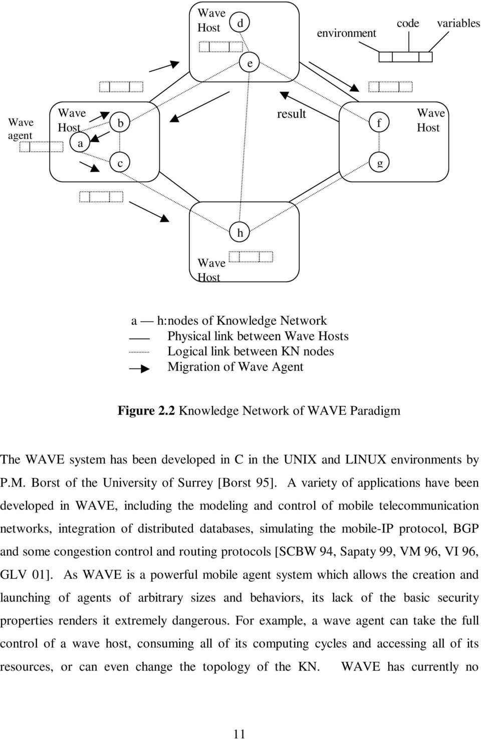 A variety of applications have been developed in WAVE, including the modeling and control of mobile telecommunication networks, integration of distributed databases, simulating the mobile-ip
