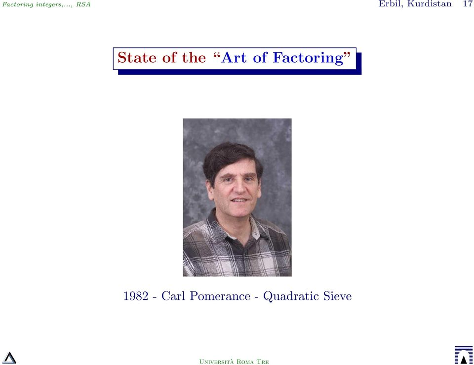 State of the Art of Factoring
