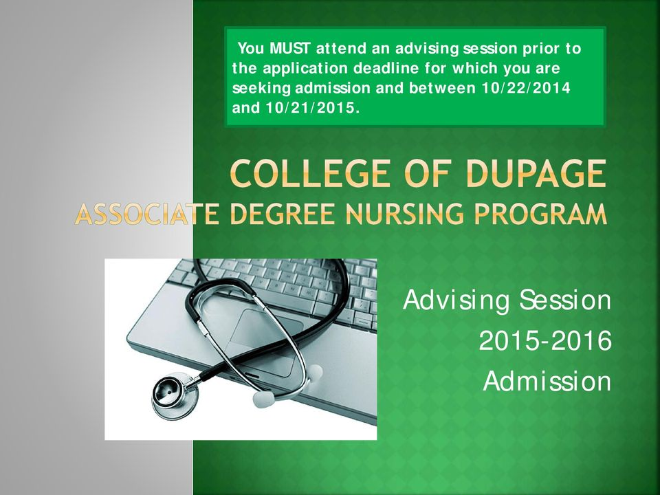 seeking admission and between 10/22/2014 and