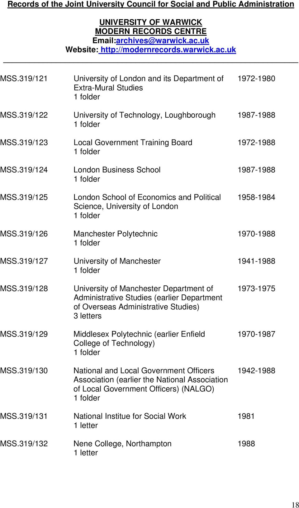 Political Science, University of London Manchester Polytechnic University of Manchester University of Manchester Department of Administrative Studies (earlier Department of Overseas Administrative