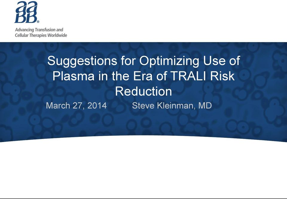 TRALI Risk Reduction March